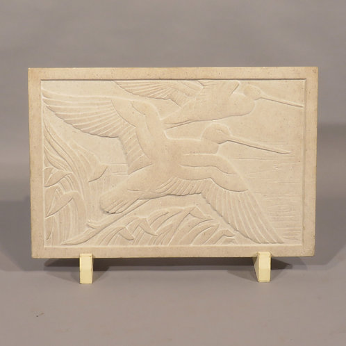 A mid 20th Century Relief Carved Stone Plaque By Rosamund Fletcher - £2950