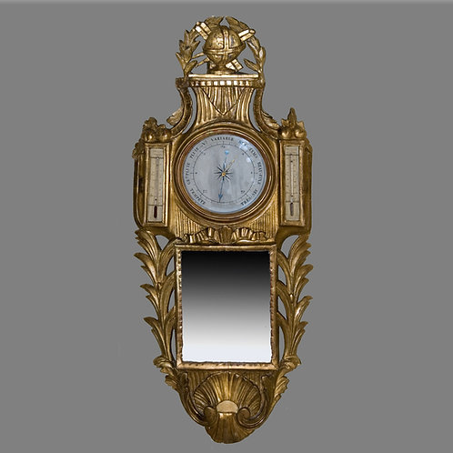 18th Century French Giltwood Barometer - £1200
