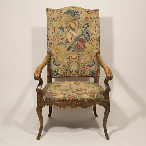 Early 18th Century Louis XV Walnut Upholstered Armchair - £4950