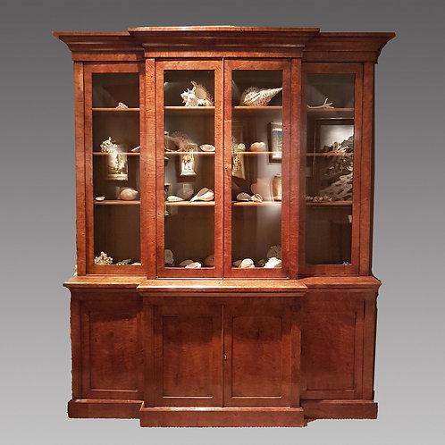 An Early 19th Century Pollard Oak Breakfront Bookcase - £8950