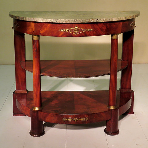 19th Century French Demi Lune Buffet - SOLD
