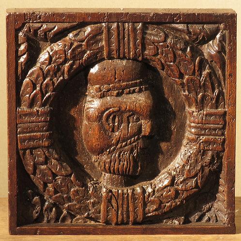 A 16th Century Oak Portrait Panel - £1250