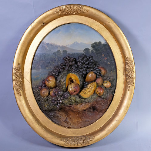 19th Century Landscape Scene with Plaster Fruit - £1850