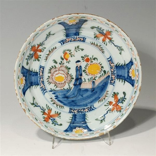 17th Century Antique Dutch Polychrome Delft Dish - £695