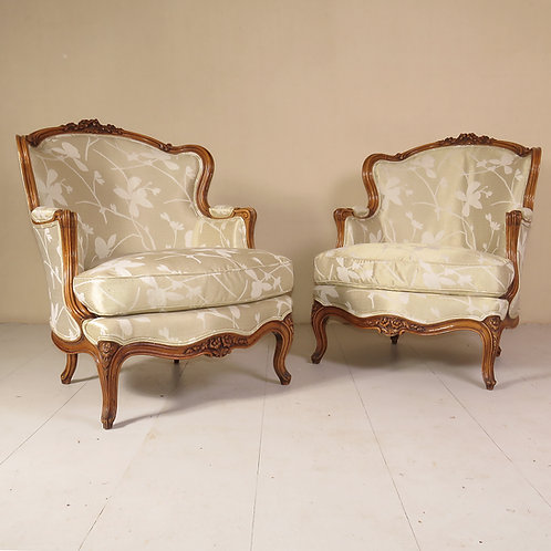 Pair of Late 19th Century French Walnut Fauteuils - £2800