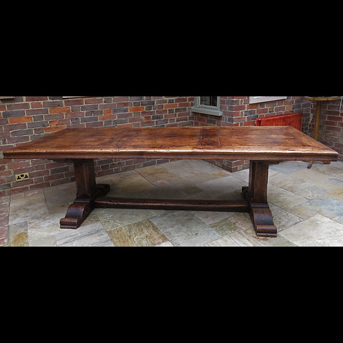 Large Mid 20th Century Elm Refectory Table - £7800
