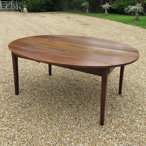 Early 19th Century Oval Drop Leaf Fruitwood Farmhouse Table - £3950