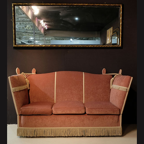 Early 20th Century Upholstered Camel Back Knole Sofa - £3500