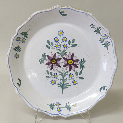 18th Century French Faience Plate - £375