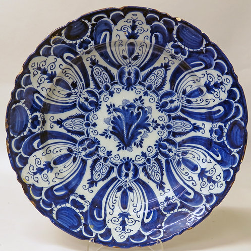 18th Century Blue and White Delft Dish