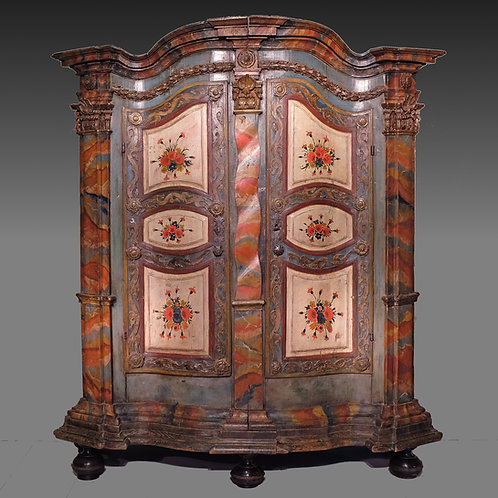 18th Century Tyrolean Painted Cupboard / Armoire - £16850