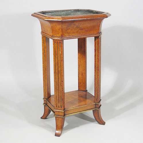 A Regency Period Amboyna Jardiniere Stand with Tole Liner - £3950