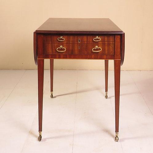 Sheraton Period Mahogany Pembroke / Games Table