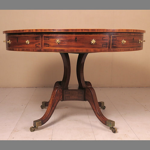 Early 19th Century Mahogany Drum Table - £8950