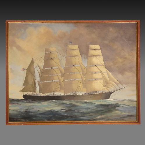 Mid-20th Century Marine Oil on Canvas - £4800
