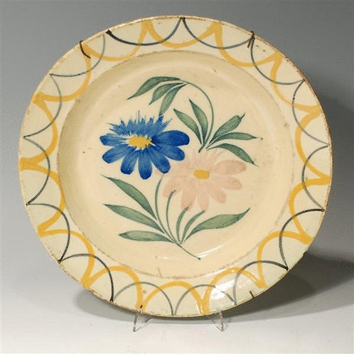 19th Century Portugese Polychrome Majolica Dish - £185
