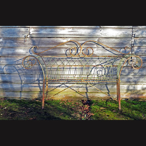 Edwardian Two Seat Wirework Bench - £895