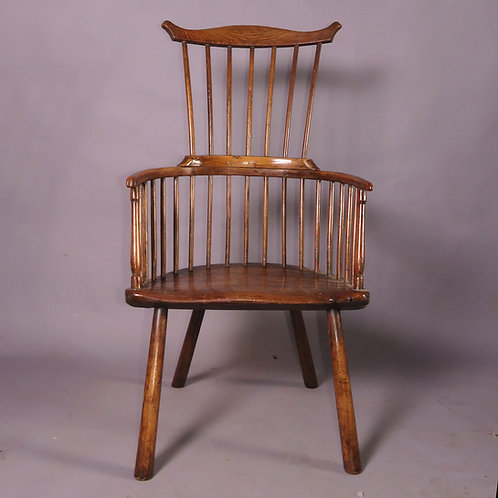 A Late 18th Century Ash Comb Back Windsor Chair -SOLD