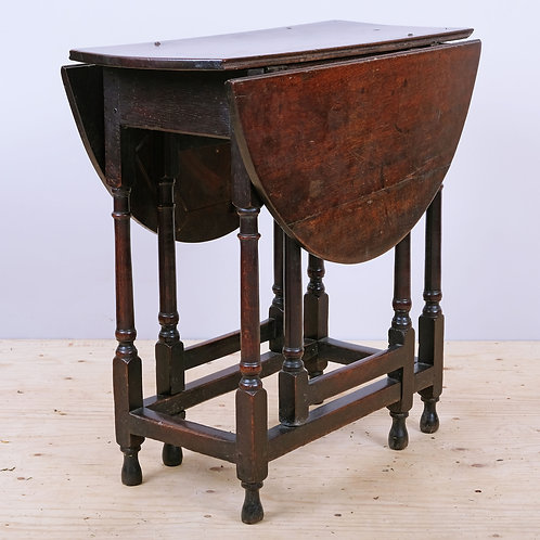 Small Early 18th Century Queen Anne Period Oak Gateleg Table - £1850