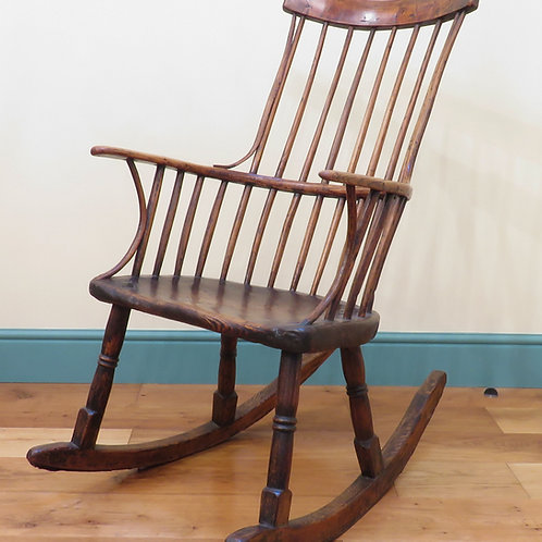 A Rare Late 18th Century Rocking Windsor Chair - £5250