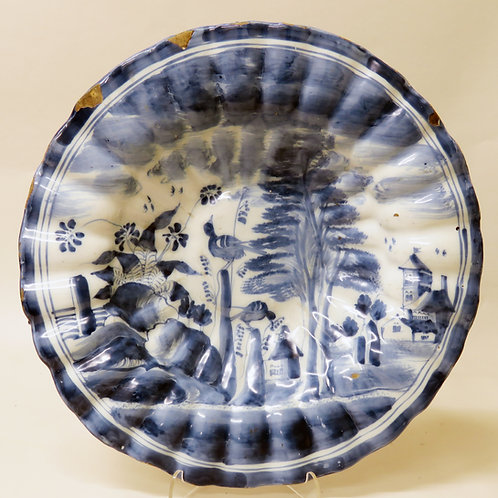 17th Century Frankfurt Blue and White Dish
