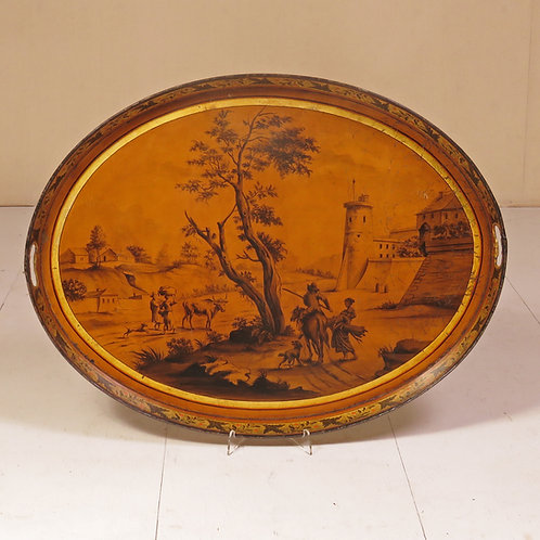 An Early 19th Century Painted Toleware Tray - SOLD