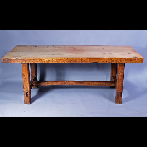 19th Century French Elm Refectory Table - £2950