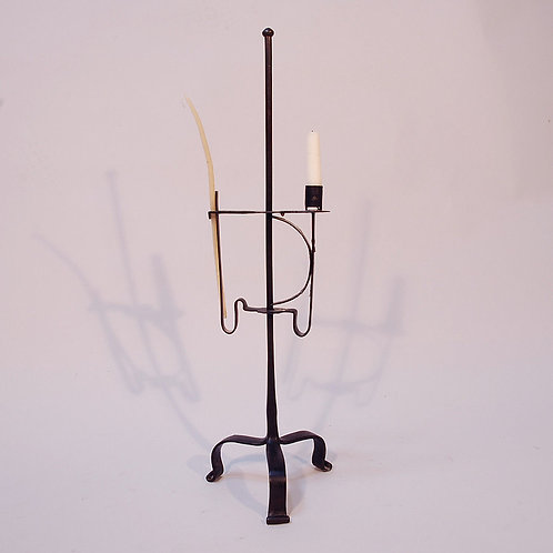 A Mid 18th Century Steel Standing Adjustable Splint and Candleholder - £950