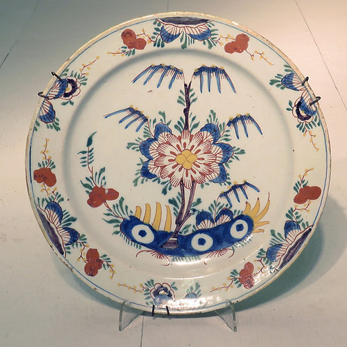 Mid 18th Century Dutch Delft Polychrome Dish - SOLD