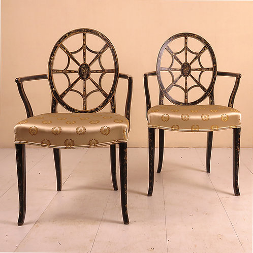 Pair of 20th Century Painted Armchairs - £2950