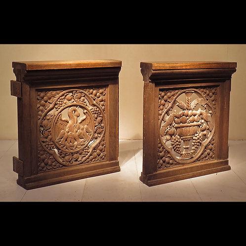 19th Century Gothic Revival Oak Altar Gates - £1850