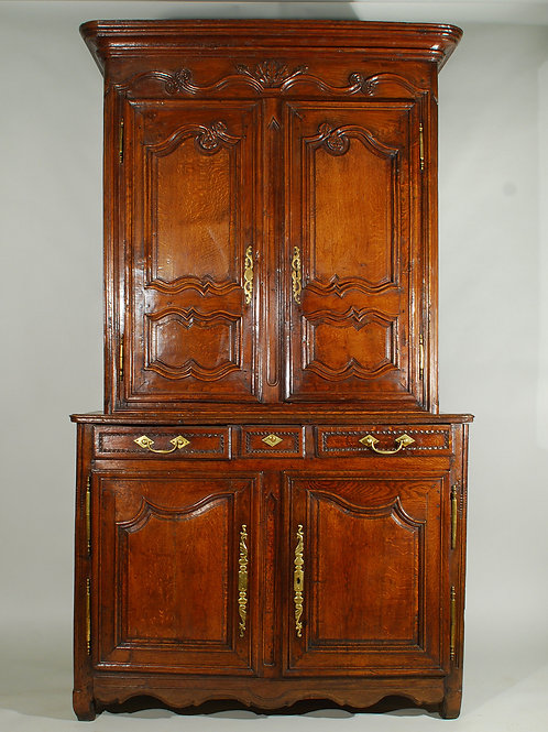 Antique Late 18th Century Oak Deux Corps - £2950