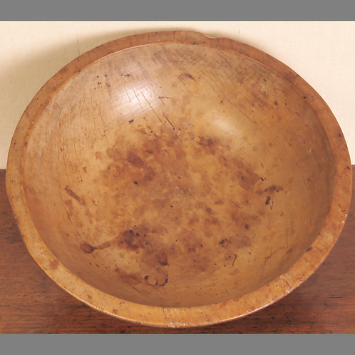 Early 19th Century Sycamore Dairy Bowl