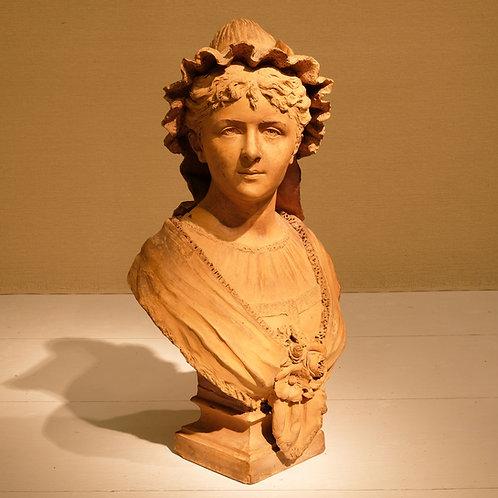 19th Century Terracotta Bust by L Garnier - £1950