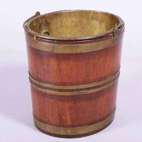 19th Century Dutch Brass Bound Mahogany Bucket