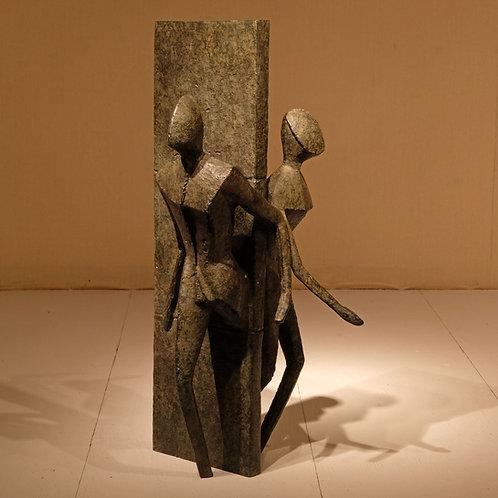 "20th Century Bronze Scuplture - ""Both Ways"" - Guy Buseyne - £3950"