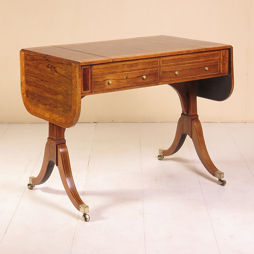 Sheraton Period Rosewood Sofa / Games Table - P.O.A.