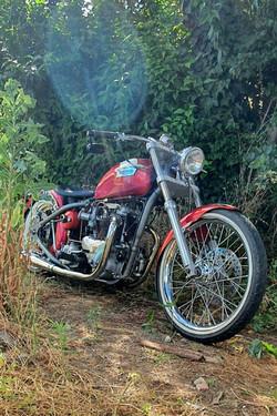 Triumph chopper motorcycle