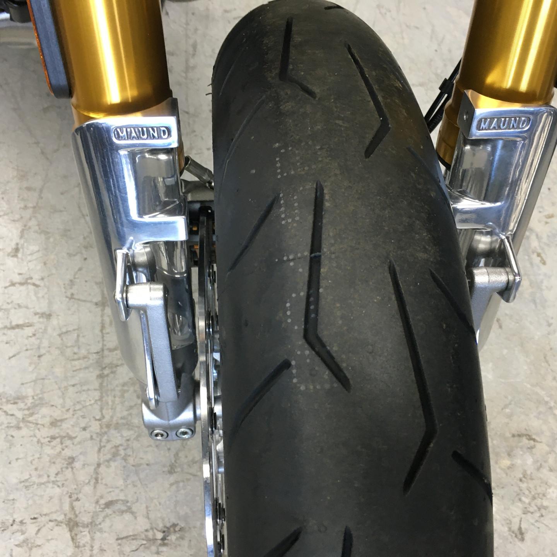 Triumph Thruxton RS fork shrouds