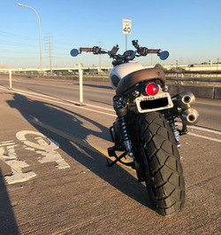 Triumph Street Scrambler with round LED tail tidy