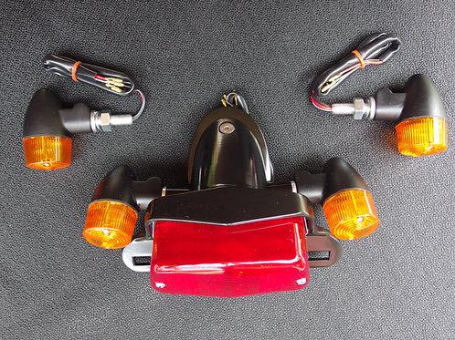 Bonneville T100 Thruxton Scrambler Black Lucas Tail Light and turn signals