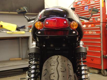 Street Cup cafe racer Fender delete kit Lucas lamp
