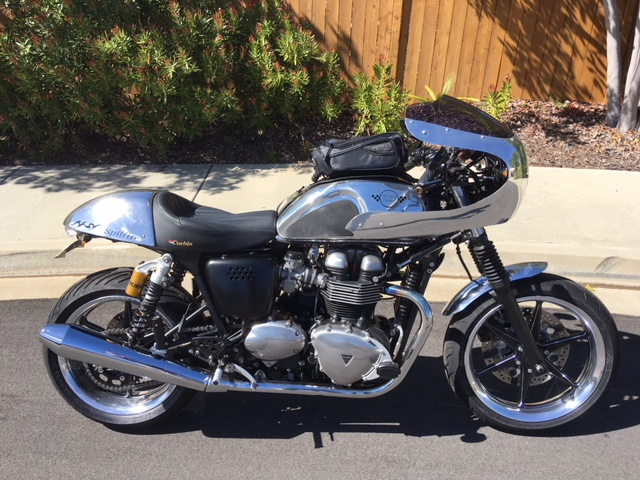 Paul's all aluminum Thruxton