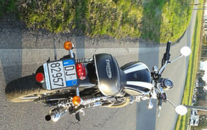 Bonneville 900 with Maund custom Tail light and stock signals EU Regulations
