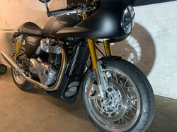 Thruxton motorcycle custom fork shrouds/fender