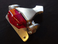 Bonneville T100 T120 brushed satin finish custom tail lamp