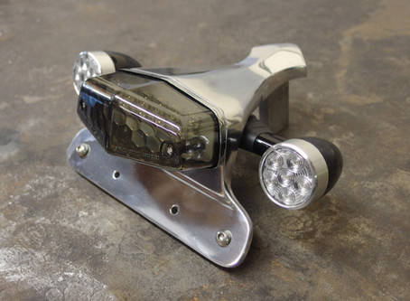 Stock turn signal mounts are an option