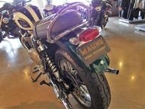 Triumph Bonneville with custom tail light/signals
