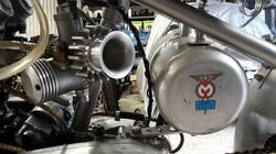 Triumph Pre Unit Bobber Side intake