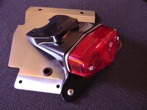 Triumph Street Scrambler fender eliminator with Lucas Tail Light